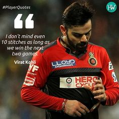 #PlayerQuotes Now this is what we call passion and dedication! Nothing can stop Virat Kohli ! #IPL #IPL2016 #viratkohli #RCB #RCBvKXIP #cricket