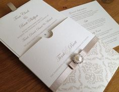 Wedding Invitation  For more insipiration visit us at https://facebook.com/theweddingcompanyni or http://www.theweddingcompany.ie