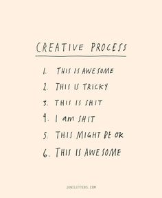 The 6 Stages of the Creative Process