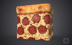 Pizza time with Jeff Kleinzweig - https://www.artstation.com/artwork/LOvZv #SubstanceDesigner #ThisIsSubstance