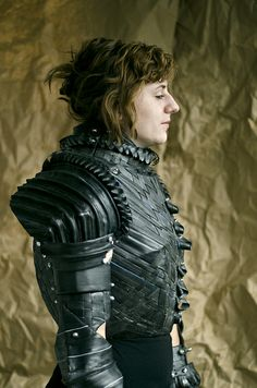 armour made entirely out from bicycle tyres... tumblr_lt6ouvwXth1qzc89mo1_500 by grace.duval, via Flickr
