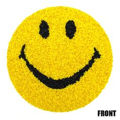 Vintage 1970s Groovy Retro MOD Plastic Smiley Face Popcorn Wall Art POP Art