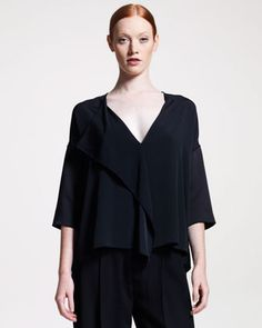 Fluid Draped-Front Blouse by THE ROW at Neiman Marcus.