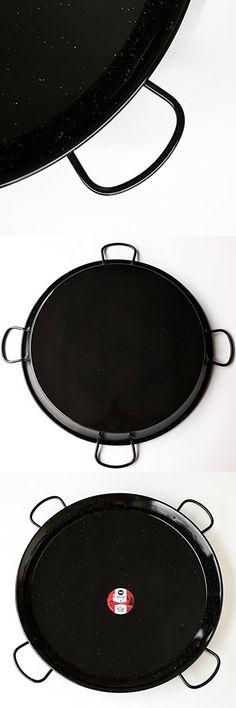 80cm La Paella Garcima 32 Carbon Steel Pan Large Silver