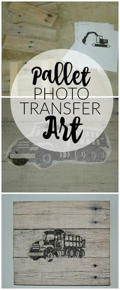DIY Pallet Photo Transfer Art