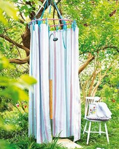 32 beautiful DIY outdoor shower ideas: creative designs plans on how to build easy garden shower enclosures with best budget friendly kits fixtures! – A Piece of Rainbow outdoor projects, backyard, landscaping, Outdoor Shower Enclosure, Shower Tent, Pool Shower, Garden Shower, Diy Shower, Shower Ideas, Camp Shower, Outdoor Shower Fixtures, Bathroom Ideas