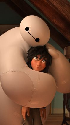 Big Hero 6 Baymax Warm Hug #iPhone #6 #plus #wallpaper