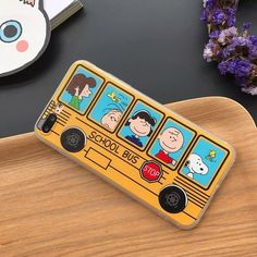 5cff49ab66d Yellow Snoopy School Bus Hard Case Cover for iPhone 6 6S 7 8 PLUS C0036
