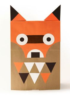 Wearing A Paper Bag Never Looked This Cool ⋆ Handmade Charlotte Diy Paper Bag, Paper Bag Crafts, Animal Costumes, Diy Costumes, Paper Bag Decoration, Fox Costume, Camping Crafts, Halloween Masks, Halloween Party
