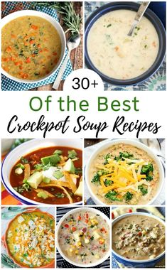 Over 30 of the best crockpot soup recipes to try. You will find slow cooker reci. Over 30 of the best crockpot soup recipes to try. You will find slow cooker recipes for hearty soups, light soups, vegetarian soups, creamy soups, and more! Crock Pot Soup, Slow Cooker Soup, Slow Cooking, Cooking Stuff, Healthy Crockpot Recipes, Slow Cooker Recipes, Keto Recipes, Potato Recipes, Pasta Recipes