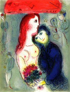 Marc Chagall - Le Cirque, Plate VIII. Color Litograph.
