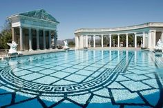 "Neptune Pool, San Simeon, CA  Dan Steinberg / AP Photo  The original plans for Hearst Castle in San Simeon, Calif., called for a garden with a temple structure and an ornamental pool. But in 1934, owner William Randolph Hearst wrote to his architect, saying, ""I am sending back the plan of the temple garden with the suggestion that we make the pool longer than it is, as long as a swimming pool. Mrs. Hearst and the children are extremely anxious to have a swimming pool!"""