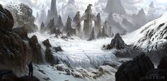 Skyrim - Hidden Peak Barrow, Michal Kus on ArtStation at http://www.artstation.com/artwork/skyrim-hidden-peak-barrow