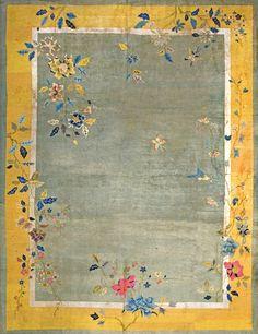 "#272 Chinese Art Deco carpet  8'9"" x 11'6""  circa 1920"