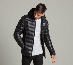 Jackets for Men Cool Jackets, Winter Jackets, Men's Jackets, Nike Windrunner Jacket, Streetwear, Black Down, Quilted Jacket, Men Casual, Menswear