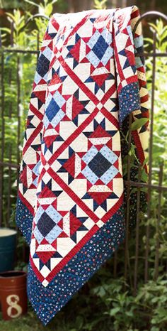 Patriotic Stars Quilts Of Valor Fat Quarter Friendly Quilt Flying Geese Units Quilt
