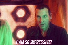 """Nine GIF: """"I am so impressive!""""  Haha he looks so insulted that she would think otherwise."""