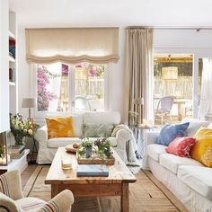 A house full of charming details in Sitges Interior Design Living Room, Living Room Decor, Living Spaces, Comfortable Couch, Moraira, Deco Addict, Sitges, Dream Decor, Style At Home