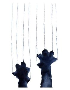 Naughty Black Cat Watercolor Cat Art Print by Artist DJ Rogers Watercolor Cat, Watercolor Paintings, Cat Paintings, Art Aquarelle, Framed Wall Art, Art Inspo, Artsy, Art Prints, Drawings