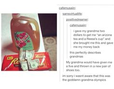 I wasn't aware this was Grandma Olympics, hahaha. (Pardon the GD word. :|)