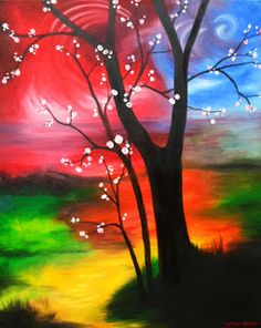 Destany Fenton Arts and Crafts: Tree of Renewal Painting SO Beautiful!! Available for purchase as an original painting!
