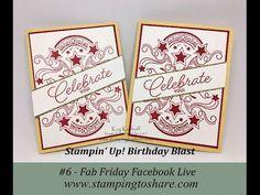 Facebook Live Fab Friday, Birthday Blast Bundle, Kay Kalthoff, Stampin' Up!, #stampingtoshare