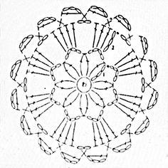 Piccole decorazioni da appendere in corda lavorata a crochet, sottopentola in corda, patterns, schemi. Decorazioni per la casa.