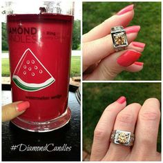 Diamond candles 100 on pinterest diamond candle rings soy candles