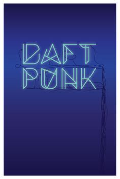 Daft Punk Music Poster - West End Girl Studio