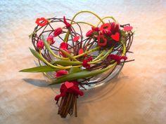 Valentijnshart tulp