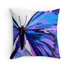 A Butterfly So Blue:Saundramylesart