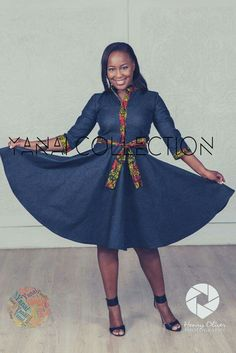 Afro chic taking the ordinary and making extraordinary! African Dresses For Women, African Print Dresses, African Attire, African Wear, African Fashion Dresses, African Women, Ankara Fashion, African Print Shirt, African Print Fashion
