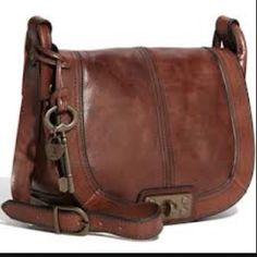 Fossil Vintage Leather Crossbody Messenger Hand Bag Purse Cognac   eBay