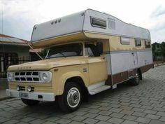 Dodge truck with camper Old Dodge Trucks, 72 Chevy Truck, Truck Bed Camper, Camper Van, Small Camping Trailer, Retro Rv, Vintage Travel Trailers, Vintage Campers, Slide In Camper
