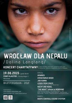 Plakat koncertu charytatywnego Wrocław Dla Nepalu