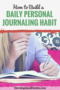 Journaling has several benefits for your overall health, and particularly your emotional health. It's relaxing and helps you better understand your thoughts. Learn about building a daily personal journaling habit to get your mind in order. Self Development, Personal Development, Gratitude, Writing Therapy, Daily Writing Prompts, Journal Prompts, Journal Ideas, Journal Inspiration, People