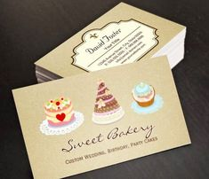 Custom Wedding Birthday Party Cakes Bakery Store Business Cards This great business card design is available for customization. All text style, colors, sizes can be modified to fit your needs. Just click the image to learn more! | bizcardstudio.co.uk