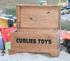 Personalized Toy Box - Toy Storage Box - Wooden Toy Box - Wooden Toy Box - Kids Toy Chest - Wooden C