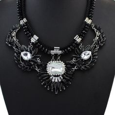 Black and White Collar Statement Necklace