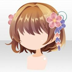Girly Goldfish Short Hair with Hair Accesory ver.A brown Half Up Long Hair, Braids For Long Hair, Short Hair Drawing, Japanese Goldfish, Medium Hair Styles, Short Hair Styles, Drawing Lessons, Drawing Tips, Drawing Ideas