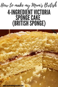 Magical 4 Ingredient British Sponge Cake - Canadian Budget Binder Easy Cakes To Make, How To Make Cake, Easy Victoria Sponge, Homemade Raspberry Jam, Frugal Meals, Frugal Recipes, Round Cake Pans, Cupcake Cakes, Poke Cakes