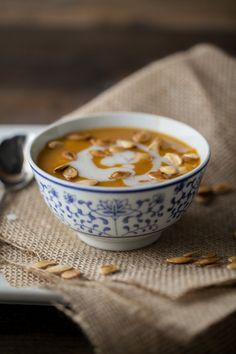 Curried Pumpkin and Coconut Soup by @Erin B B B B (naturally ella)