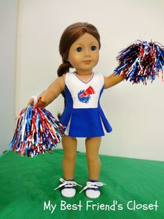 Cheerleader American Girl Doll Clothes by MyBestFriendsCloset8