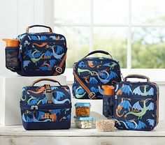 Mackenzie Navy Dragon Lunch Bags #pbkids