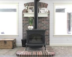 Best 25+ Wood stove wall ideas on Pinterest   Wood stoves near me, Wood stove hearth and Wood ...