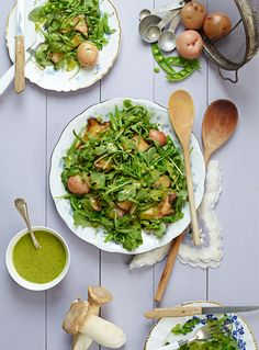 Isa Does It, Food Photography by Vanessa Rees, via Behance Amber's NOTES: This is AMAZING. The peppery arugula, and the lemon chive vinaigrette work so well together. YUM YUM YUM!!!