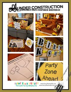 Construction Themed Birthday  Under by FancyThatStudio on Etsy, $24.50 @April Festervan Stewart