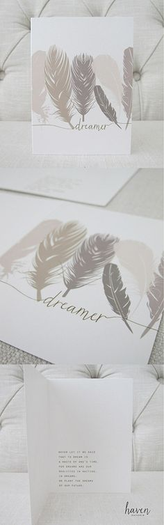 dreamer. card by Haven Paperie