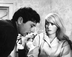 Sixties Director Roman Polanski and Catherine Deneuve during filming of Repulsion, 1965 Catherine Deneuve, Roman Polanski, Francois Truffaut, Rosemary's Baby, Scene Photo, Brigitte Bardot, Film Director, Film Movie, Movies