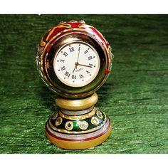 Marble Pot Table Clock at #craftshopsindia